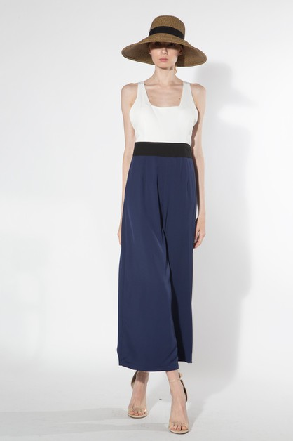 COLOR BLOCKED JUMPSUIT - orangeshine.com