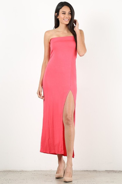 Strapless Dress - orangeshine.com
