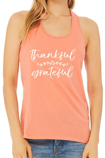 THANKFUL GRATEFUL TANK TOP - orangeshine.com