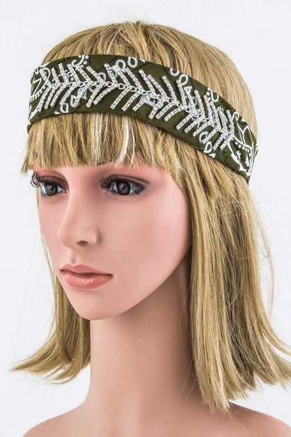 Crystal Arrows Bandana Headband - orangeshine.com