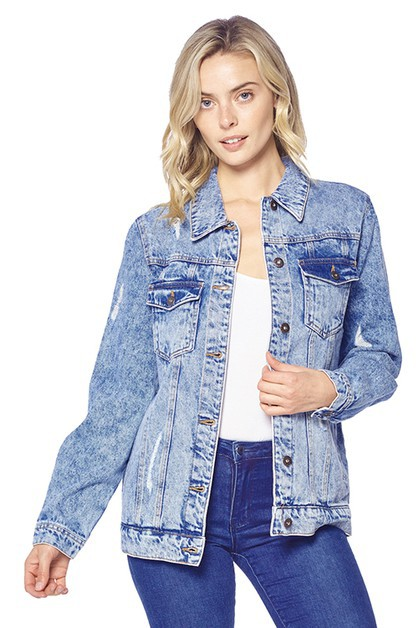 DENIM JACKETS DISTRESSED WASHED  - orangeshine.com