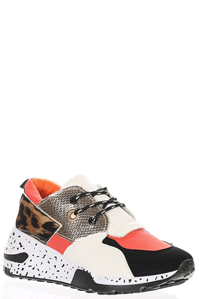 LACE UP ROUND TOE SNEAKERS - orangeshine.com