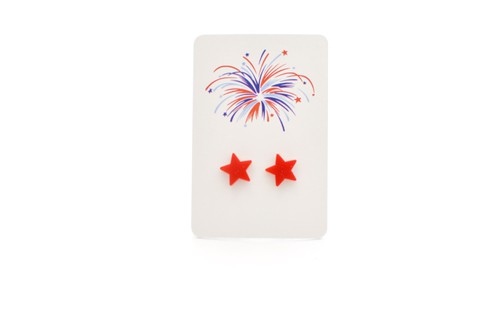 Red Star Studs - Fourth of July - orangeshine.com