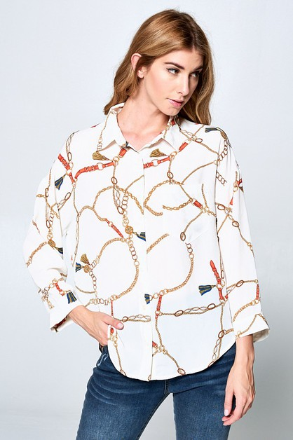 CHAIN BLOUSE - orangeshine.com