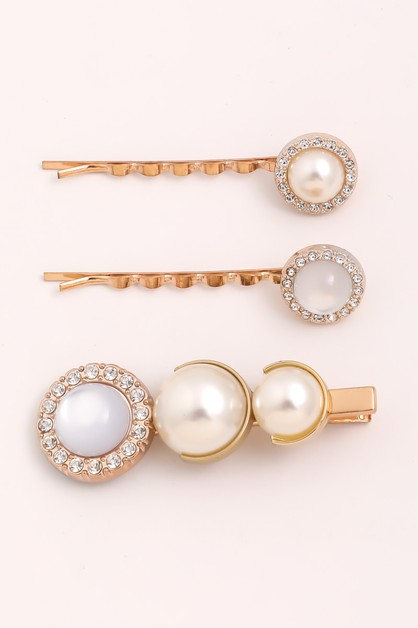 Assorted Pearl Hair Pin Set - orangeshine.com