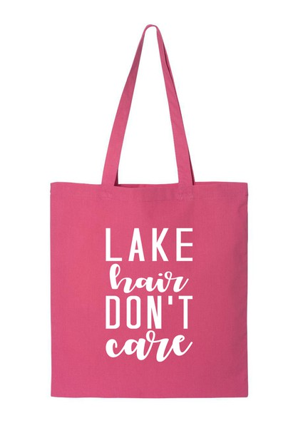 LAKE HAIR DONT CARE TOTE BAG - orangeshine.com