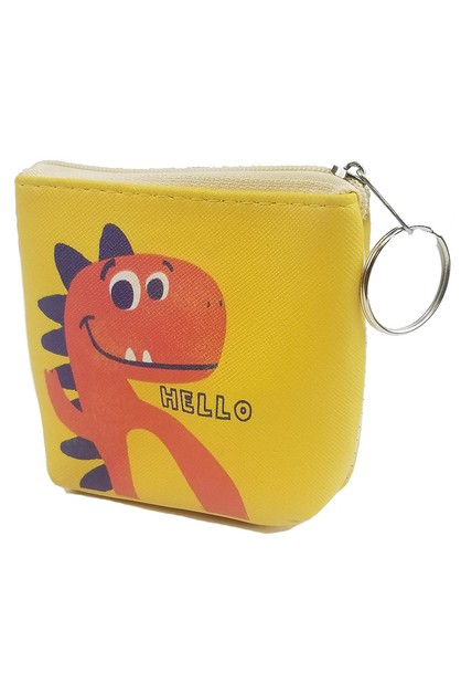 Cartoon Dinosaur Coin Purse - orangeshine.com