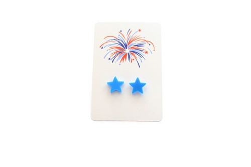 Blue Star Studs - Fourth of July - orangeshine.com