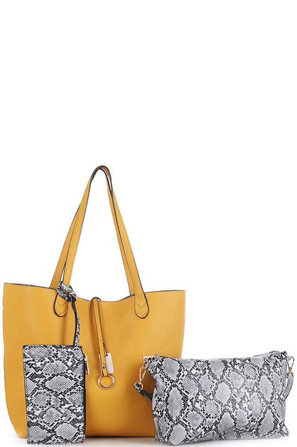 DESIGNER REVERSIBLE TOTE BAG SET  - orangeshine.com