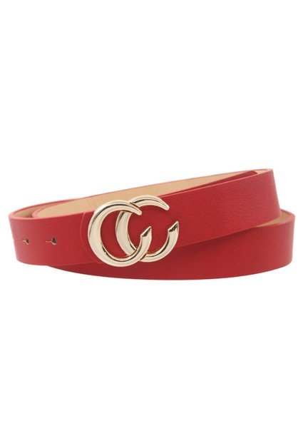 Double CC Belt – Vegan Leather - orangeshine.com