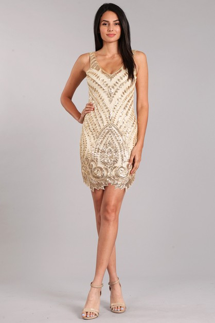Sequin Mini Dress - orangeshine.com