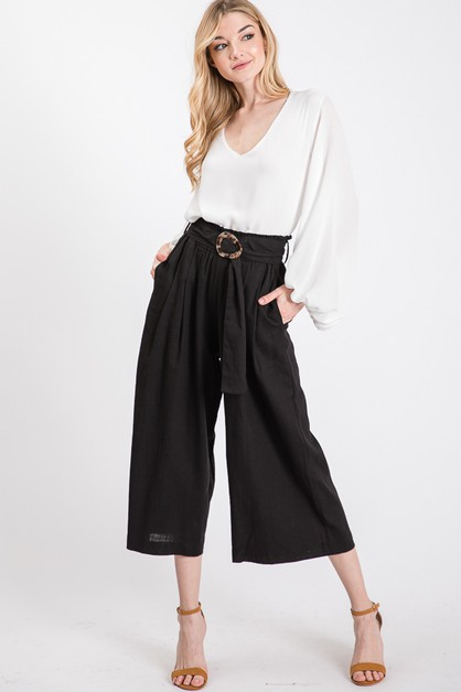 LINEN WIDE PANTS - orangeshine.com