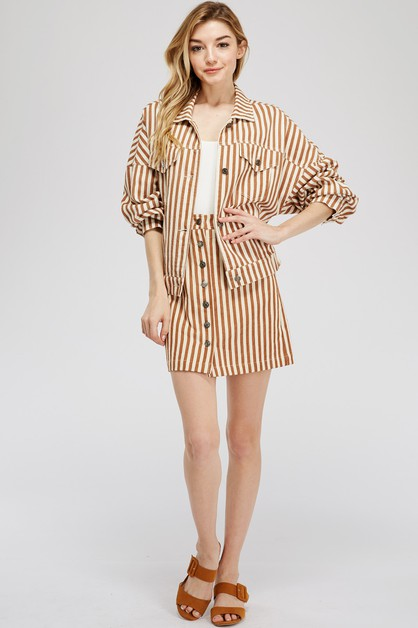 STRIPE TRUCKER JACKET - orangeshine.com
