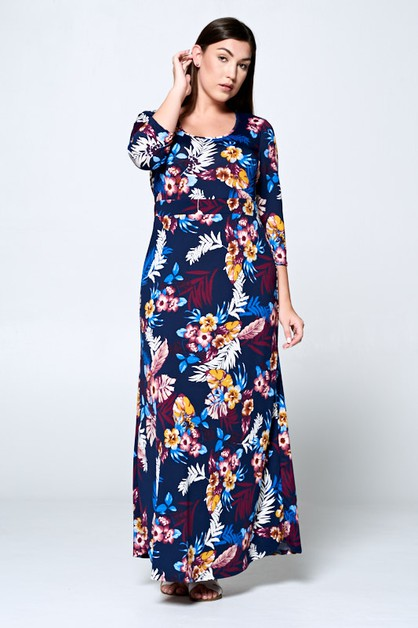 TROPICAL MAXI DRESS - orangeshine.com