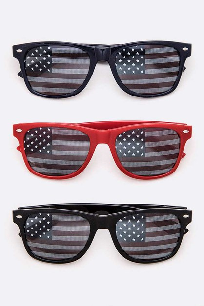 American Flag Printed Junior Sunglas - orangeshine.com
