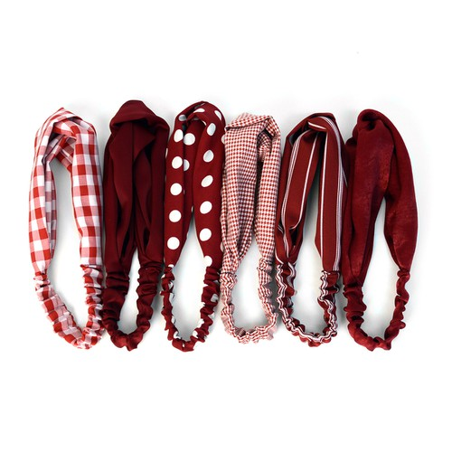 12pc Assorted Ladies  Red Headbands - orangeshine.com