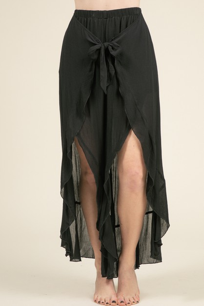 RUFFLE OPEN LEG PANTS - orangeshine.com