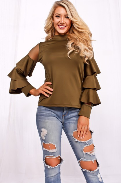 SHEER MESH LONG SLEEVE CASUAL TOP - orangeshine.com