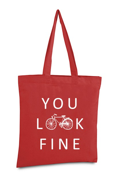 YOU LOOK FINE TOTE BAG - orangeshine.com
