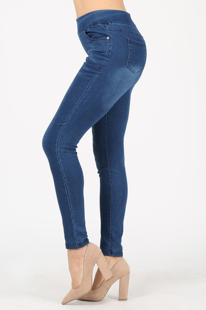 Women DENIM JEGGINGS  - orangeshine.com