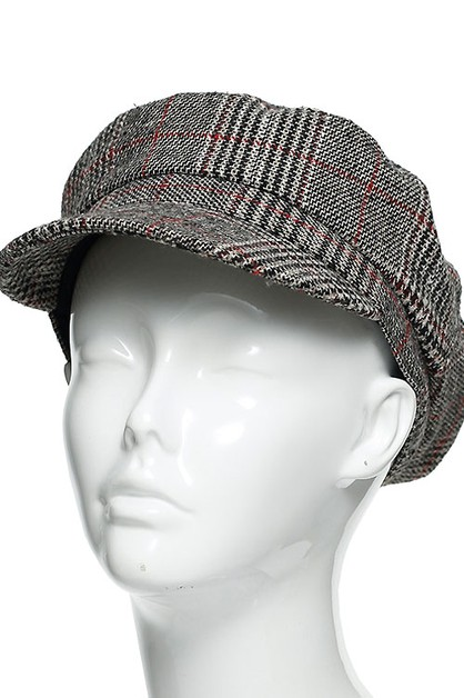 GLEN PLAID CABBY HAT  - orangeshine.com
