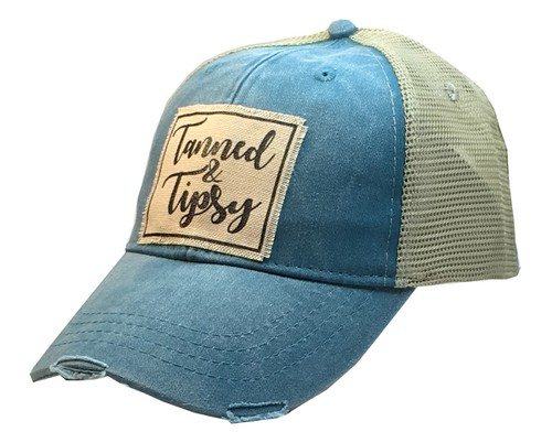 Tanned and Tipsy Trucker Hat Cap - orangeshine.com