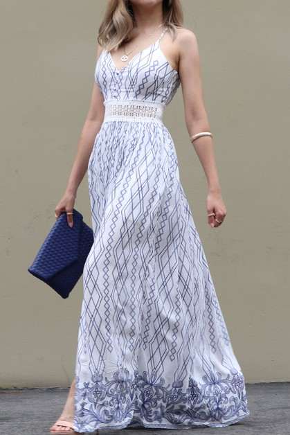 WOVEN MAXI DRESS WAIST LACE BAND - orangeshine.com