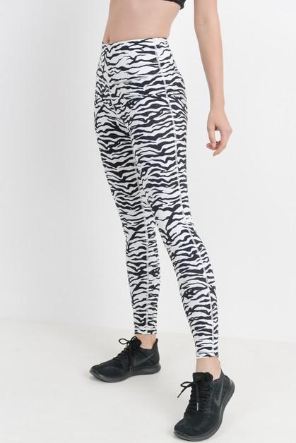 0404845567 Highwaist Zebra Print Leggings - orangeshine.com