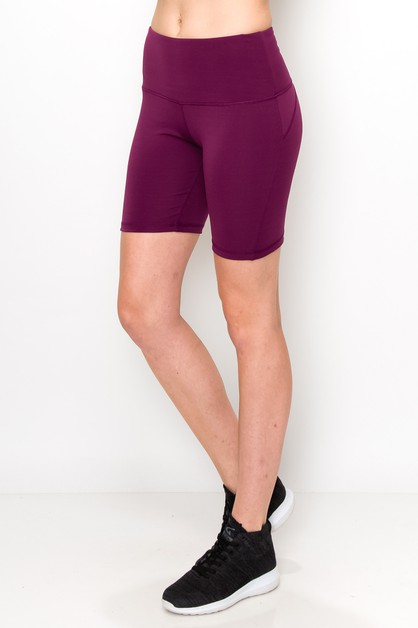 High waist yoga shorts - orangeshine.com