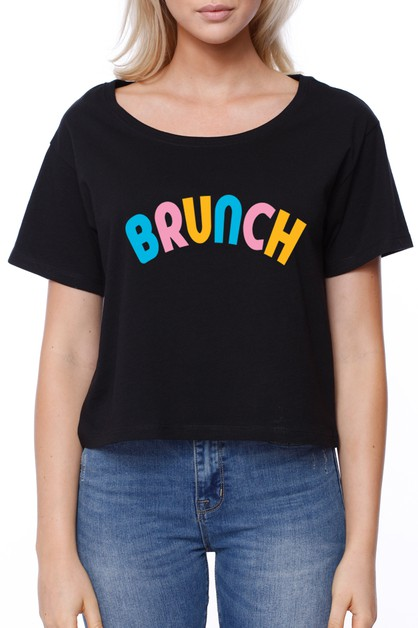 BRUNCH CROPPED TEE - orangeshine.com