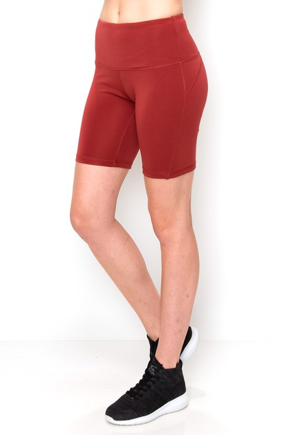 High waist activewear shorts  - orangeshine.com