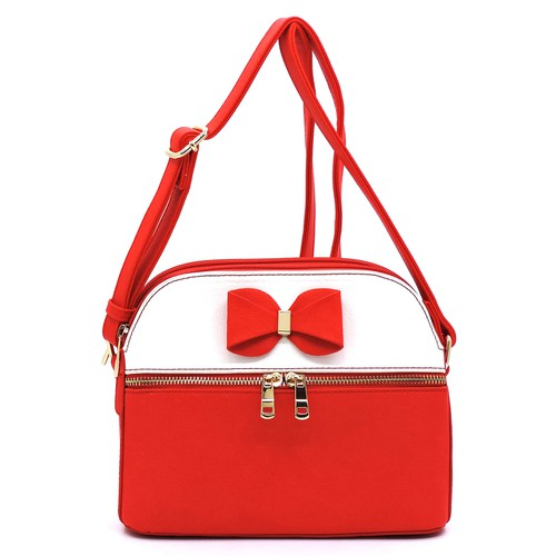 Fashion Bow Colorblock Crossbody - orangeshine.com