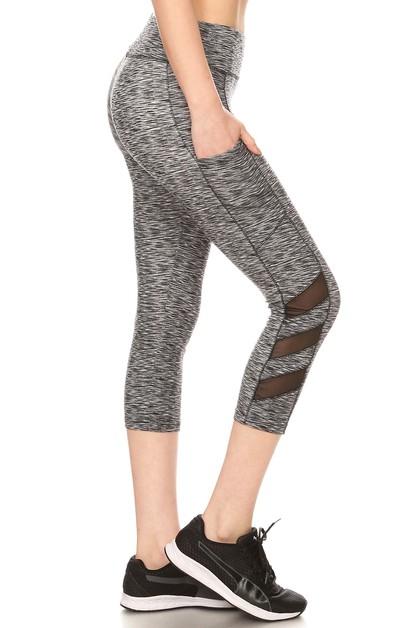 6675b6cb8f87b9 Mesh Sports Capris Leggings Yoga - orangeshine.com