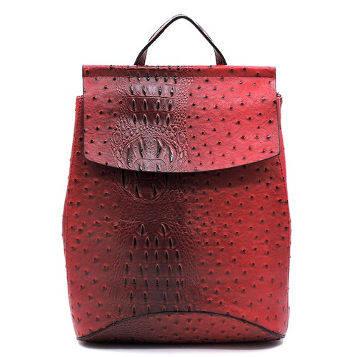 Ostrich Croc Convertible Backpack  - orangeshine.com