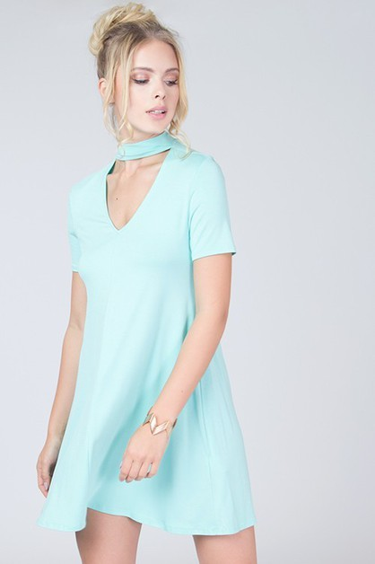 CUT OUT SWING DRESS - orangeshine.com