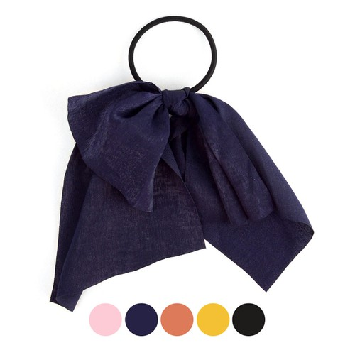 Ladies Solid Color Ribbon Hair Tie - orangeshine.com