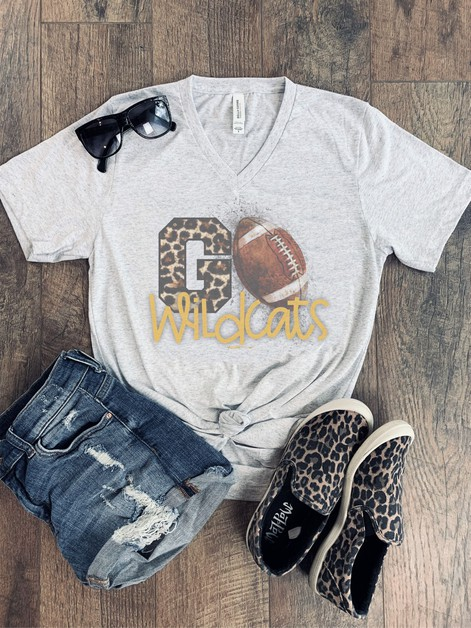 Leopard Go Team Football Spirit Tee - orangeshine.com