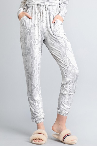 SOFT BRUSHED PYTHON PANTS - orangeshine.com