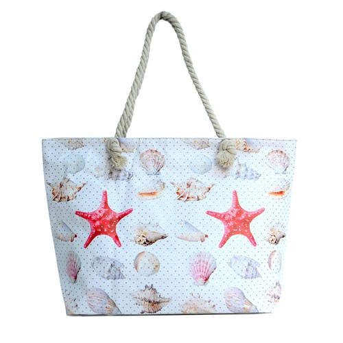 Shell Starfish Rhinestones Beach Bag - orangeshine.com