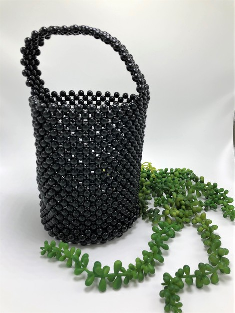 PLASTIC BEADED HAND BAG - orangeshine.com
