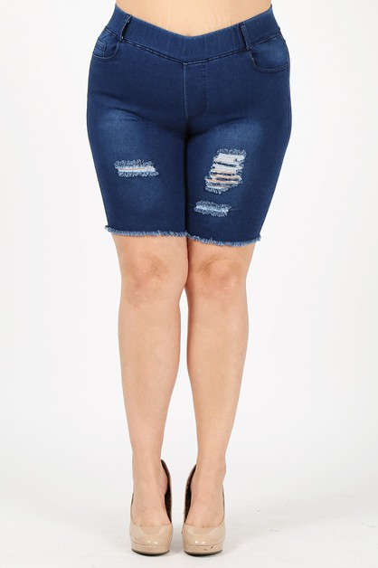 Plus Pull-on Super Stretch Bermudas  - orangeshine.com