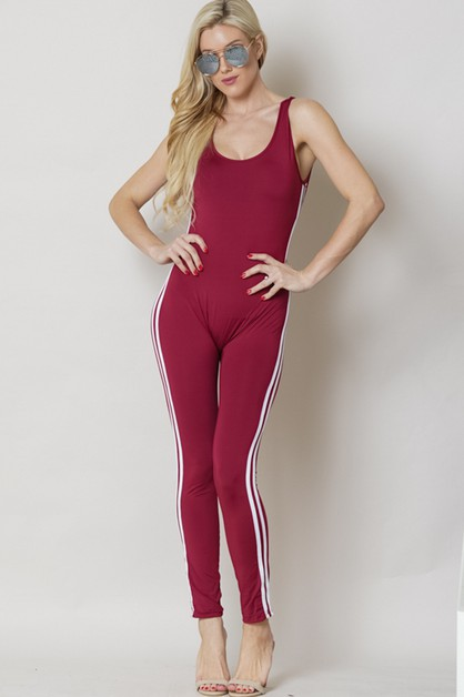 THE JUMPSUITS SOLID LOOK OPEN BACK - orangeshine.com
