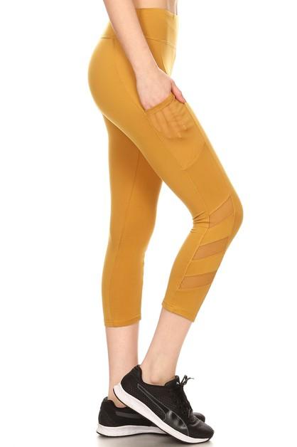 d8d18629aaead Mesh Sport Leggings Yoga Pants Capri - orangeshine.com