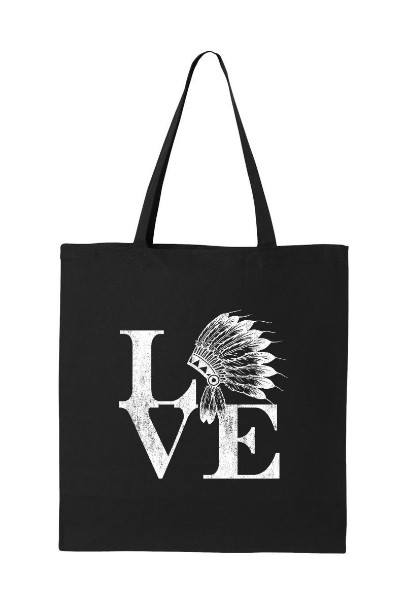 INDIAN HEAD LOVE TOTE BAG - orangeshine.com