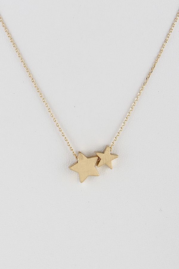 Twin Star Necklace 9EBE4 - orangeshine.com
