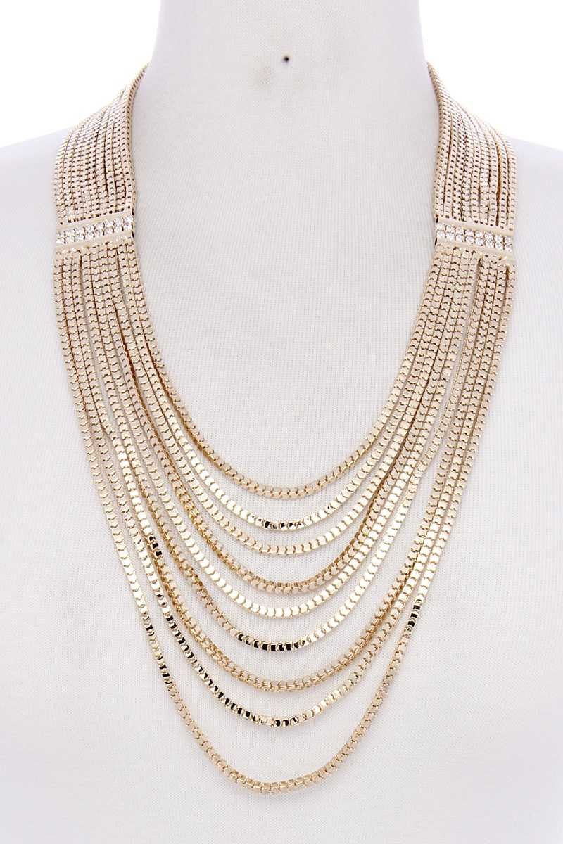LAYER METAL NECKLACE - orangeshine.com