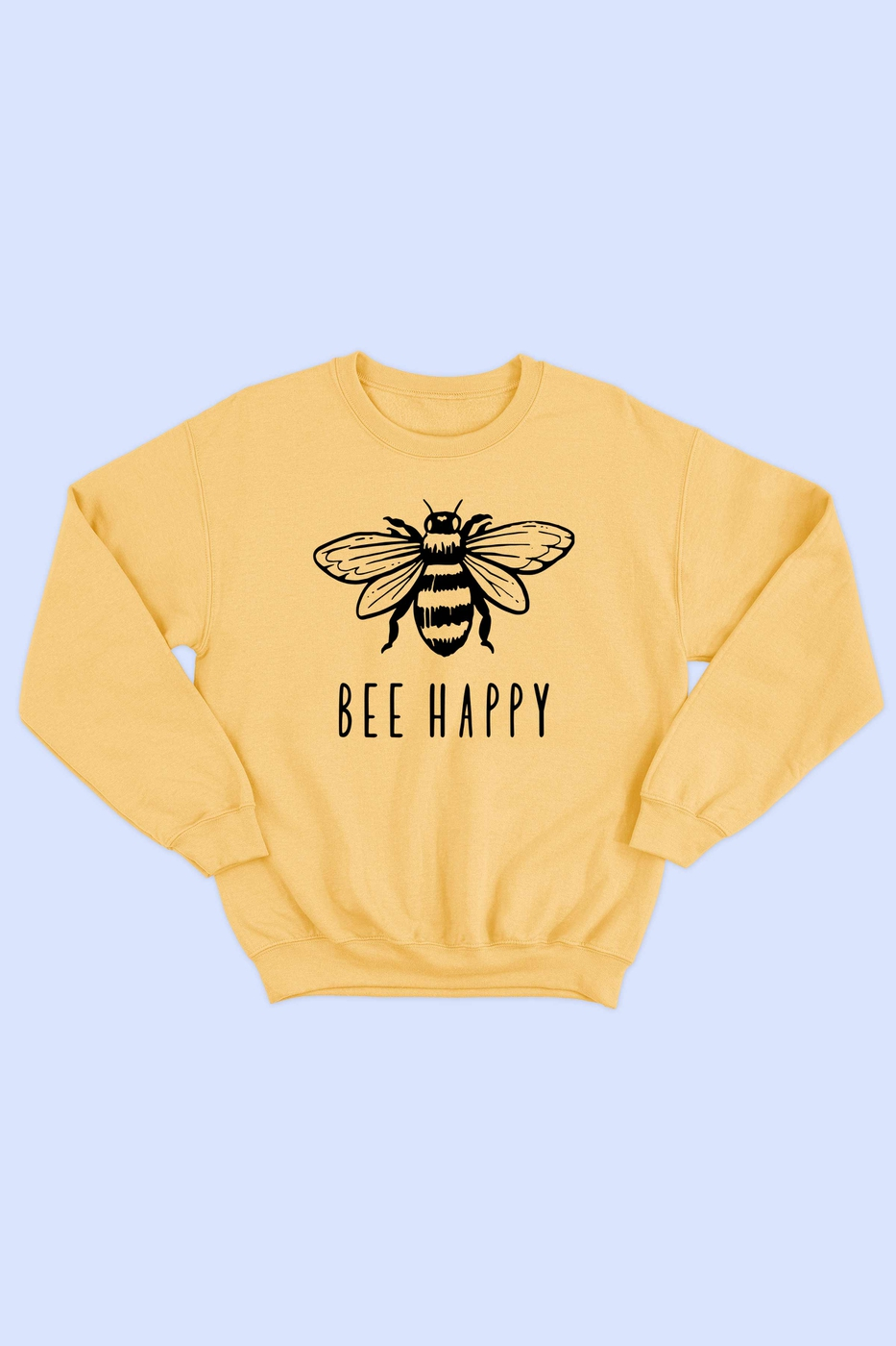 BEE HAPPY GRAPHIC SWEATSHIRT - orangeshine.com