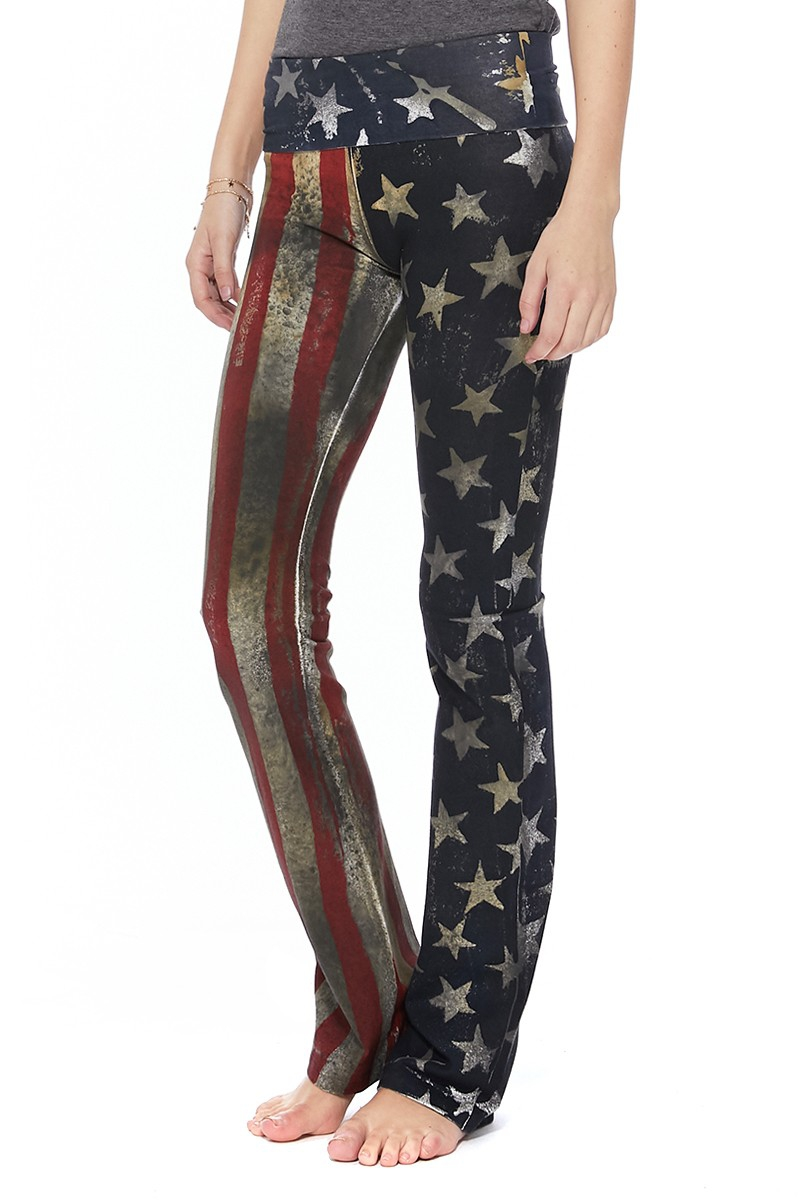 T PARTY AMERICAN FLAG YOGA PANTS - orangeshine.com