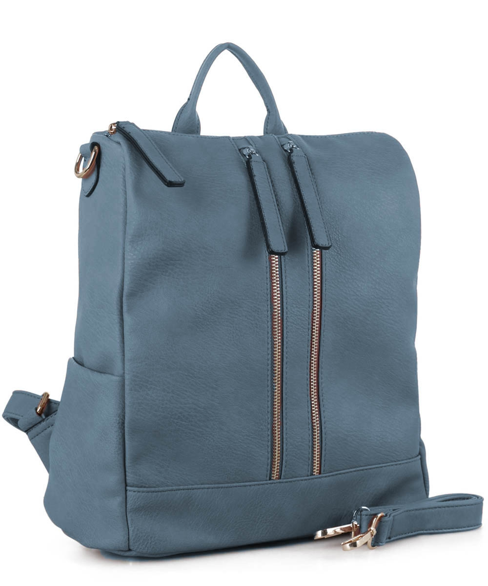 Faux Leather Fashion Backpack ES3374 - orangeshine.com