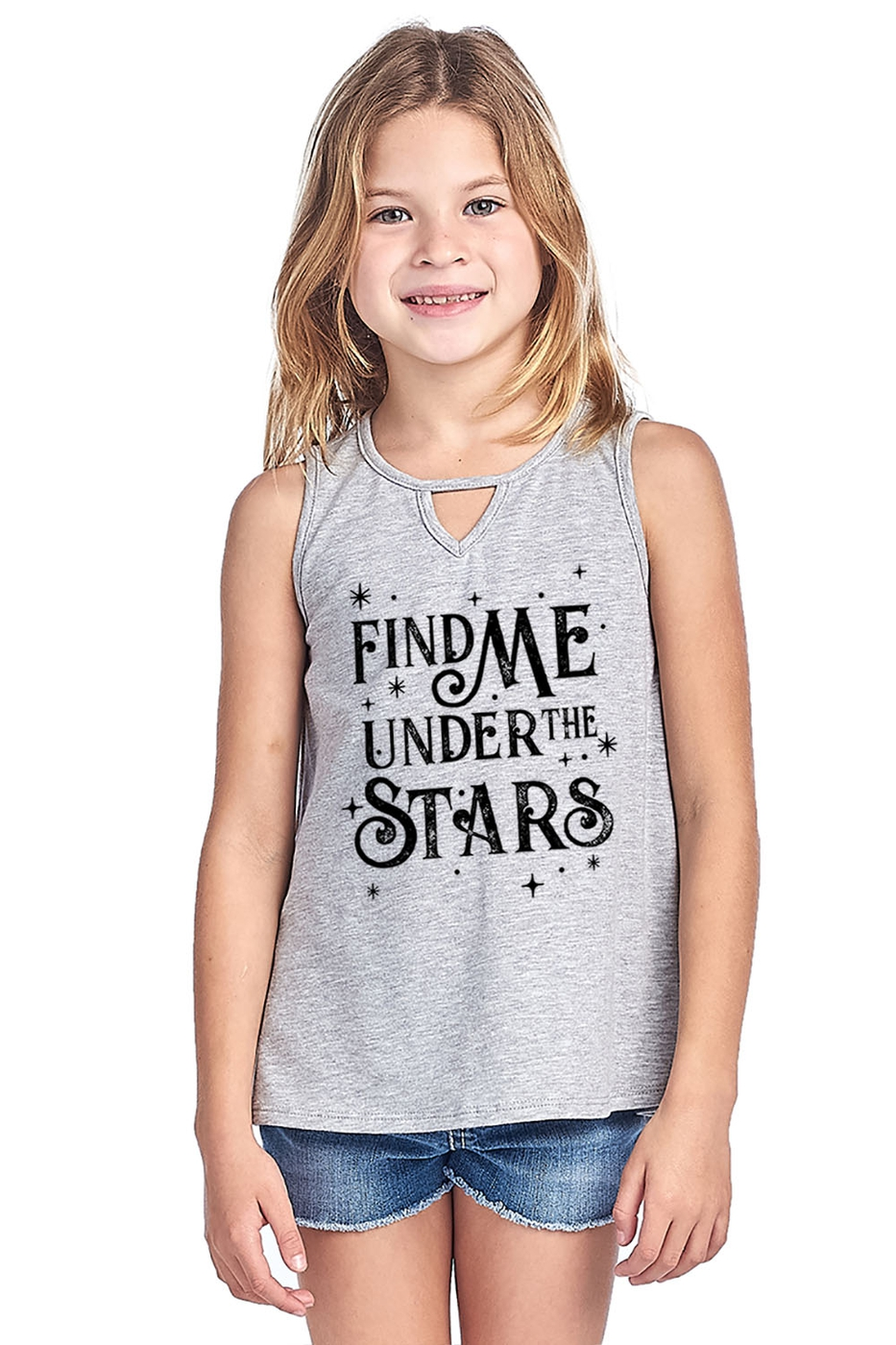 KID KEYHOLE FRONT TANK TOP - orangeshine.com
